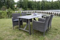 500292-3 Granville table 150 Grey + 950017 Vancouver chair Grey