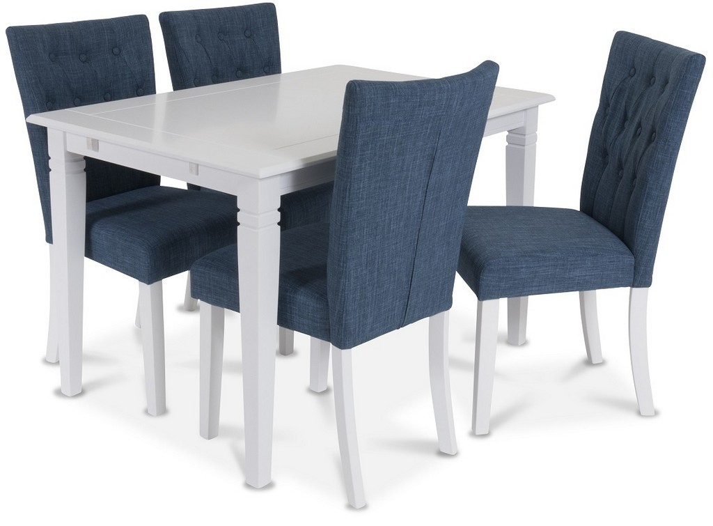 900147 Sofiero table 120x80 White + 900173 Crocket chair Blue